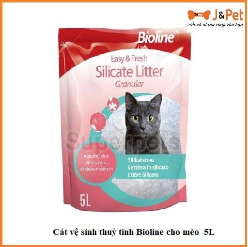 Cát Vệ Sinh Thuỷ Tinh Bioline Cho Mèo 5l