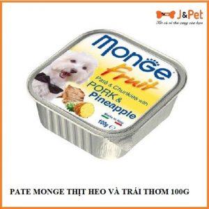 Pate Monge ThỊt Heo VÀ TrÁi ThƠm 100g