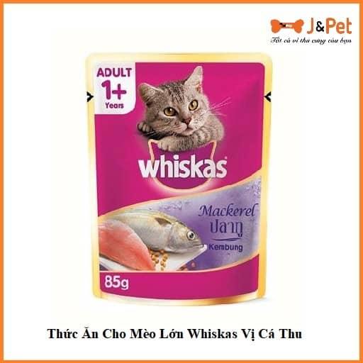 Thức Ăn Cho Mèo Lớn Whiskas Vị Cá Thu