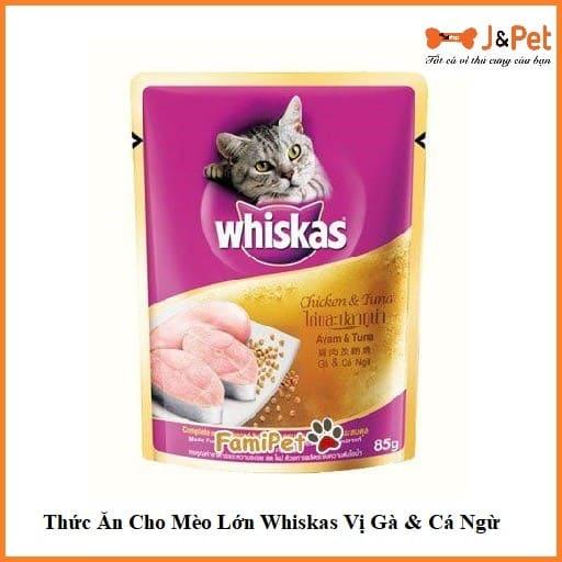 Thức Ăn Cho Mèo Lớn Whiskas Vị Gà & Cá Ngừ